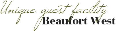 Unique Guest facility - Beaufort West