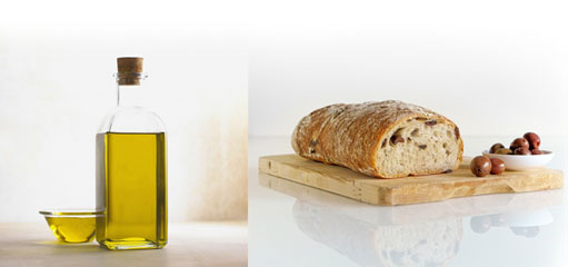 Olive oil and olive bread