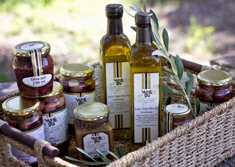 Range of olive products